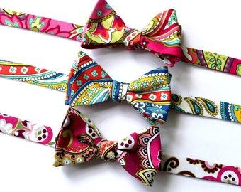 Bow Tie~Mens Self Tie Bow Tie~Mens Pre Tied~Anniversary Gift~Wedding Tie~Cotton Bow Tie~Mens Gift~Vera Bradley Bow Tie~ Vera Bradley Fabric