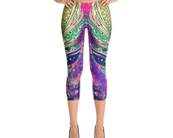 Feather Capri Leggings