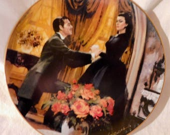 The Proposal by Howard Rogers Gone With the Wind Golden Anniversary Series Scarlett OHara Rhett Butler Collectors Plate