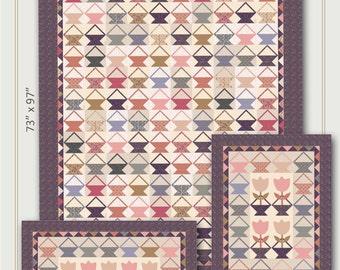 Nancy Rink Designs Little Baskets 73 x 97 + More Quilt Pattern Free Ship