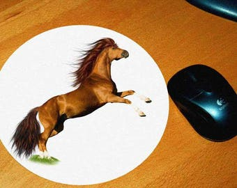 2 model horse mouse pad