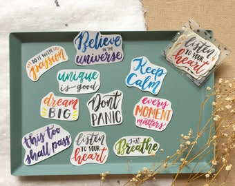 Daily Reminder - Short Quote Sticker Pack (10 in one pack)