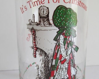 SALE Vibrant Colors Limited Editions Holly Hobbie Tumbler Cocoa Cola Tumblers Glass  Holly Hobbie Collectible Drinking Glasses Christmas Gla