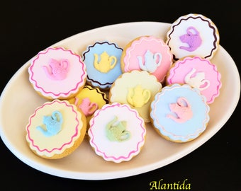 Handmade Fake Cookies Set of 10 Faux Cookies  Gift Photography Props