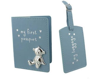 My first passport and travel tag