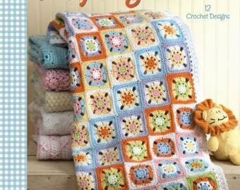 A Year of Baby Afghans Book 4 - Leisure Arts Crochet Pattern - Baby Afghan Crochet Patterns - Ripple Crochet Afghan, Animal Afghan Pattern