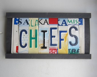 CHIEFS -  license tag sign