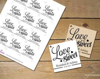 Thank You Tags Printable Template // Wedding Thank You Tags