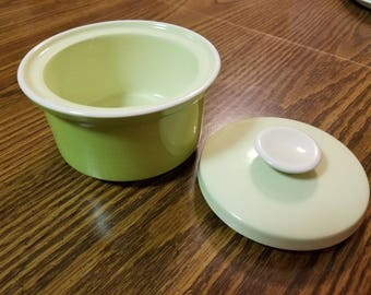 Mikasa Vintage Light Green Sugar Bowl With Lid, Circa 1970s