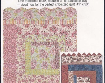 Charming Baby Log Cabin quilt pattern by Threaded Pear