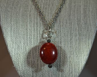 Red Oval Necklace