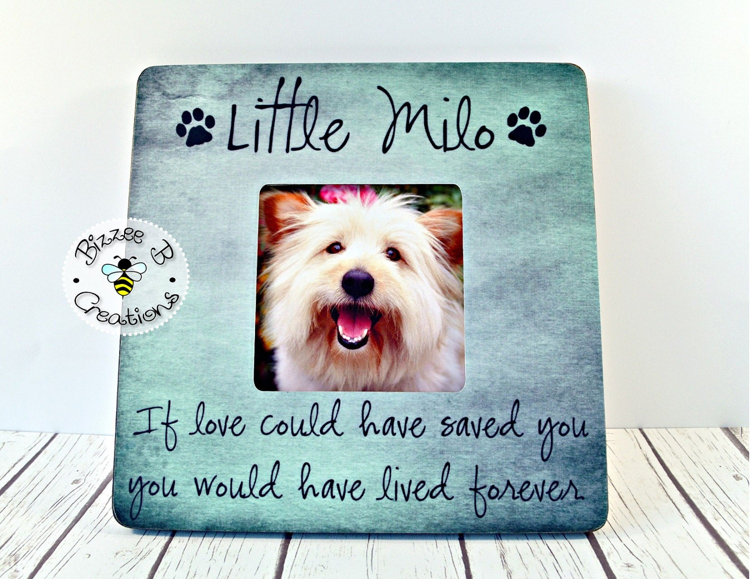 On sale pet picture frame gift if love could have saved you zoom jeuxipadfo Images