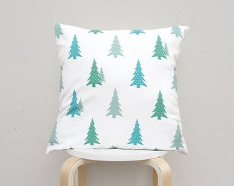 Green Tree pillow case