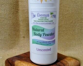 Unscented Powder / Aluminium Free / Coconut Oil / Organic Deodorant / Non GMO / Safe / Great for Cancer Patients