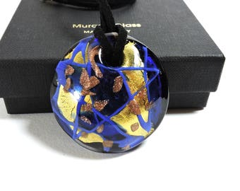 Glass pendant, handmade necklace, made in Italy, original idea gift love, anniversary, friendship