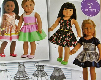 Simplicity 8192- Sewing pattern for 18 Inch Doll Clothes- Fits American Girl Dolls