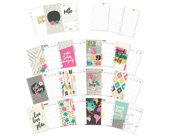 Good Vibes - Personal Planner Inserts - Personal Inserts - Monthly Inserts - Dividers - Filofax Insert - Personal Size - Carpe Diem - 021741