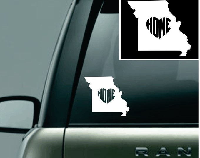 Missouri Love Your State Car Decal