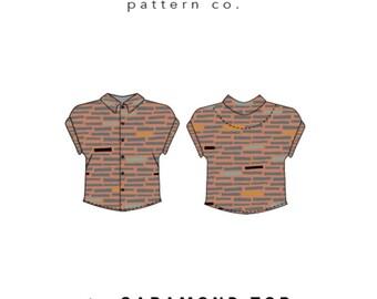 Friday Pattern Co. - Garamond Top Pattern (paper)