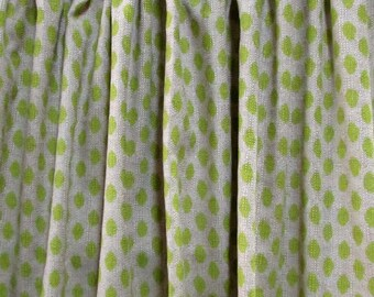 PAIR  LINED Drapes Sahara Honeydew Lacefield fabric