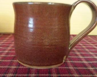 Iron red pottery coffee mug,  pottery coffee mug, pottery coffee cup, ceramic coffee mug, large pottery mug,  large mug,  Iron red pottery