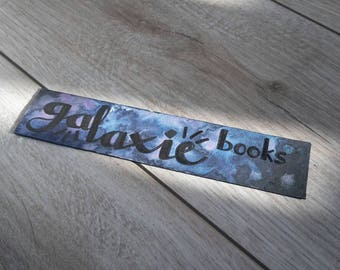 "Watercolor bookmarks ""Galaxy Books"""