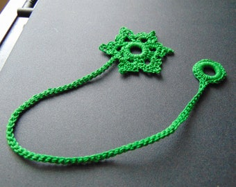 Green snowflake bookmark
