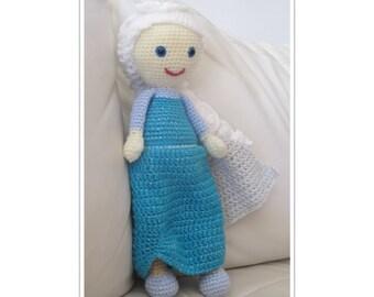 Elsa Frozen  - Crochet doll pattern - Amigurumi pattern