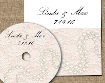 CD Sleeve - Lace and Pearls