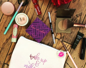 Wake up and Make up Makeup bag