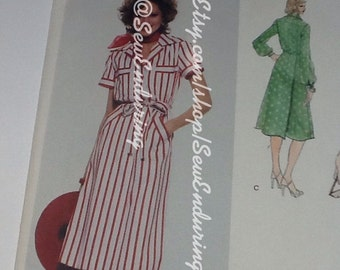 Vogue American Designer Albert Nipon 1658 Dress Pattern Bust size 32 1/2""