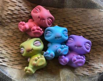Newborn Smidgeicorn - Hand-Painted Art Toy (Pink)