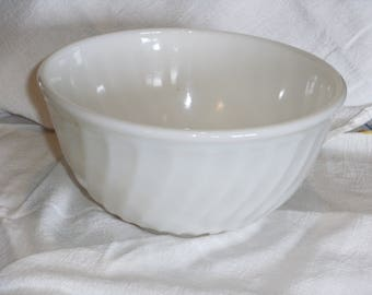 Vintage Fire King Swirl Bowl