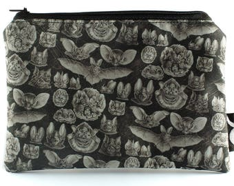Bat Makeup Bag - Gothic Cosmetics Bag - Pencil Case - Halloween - Creepy Cute - Oddity