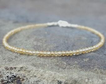 Citrine Bracelet Citrine Bracelets November Birthstone Bracelet Citrine Beaded Bracelets Best Friend Gift for Women Citrine Bead Bracelet