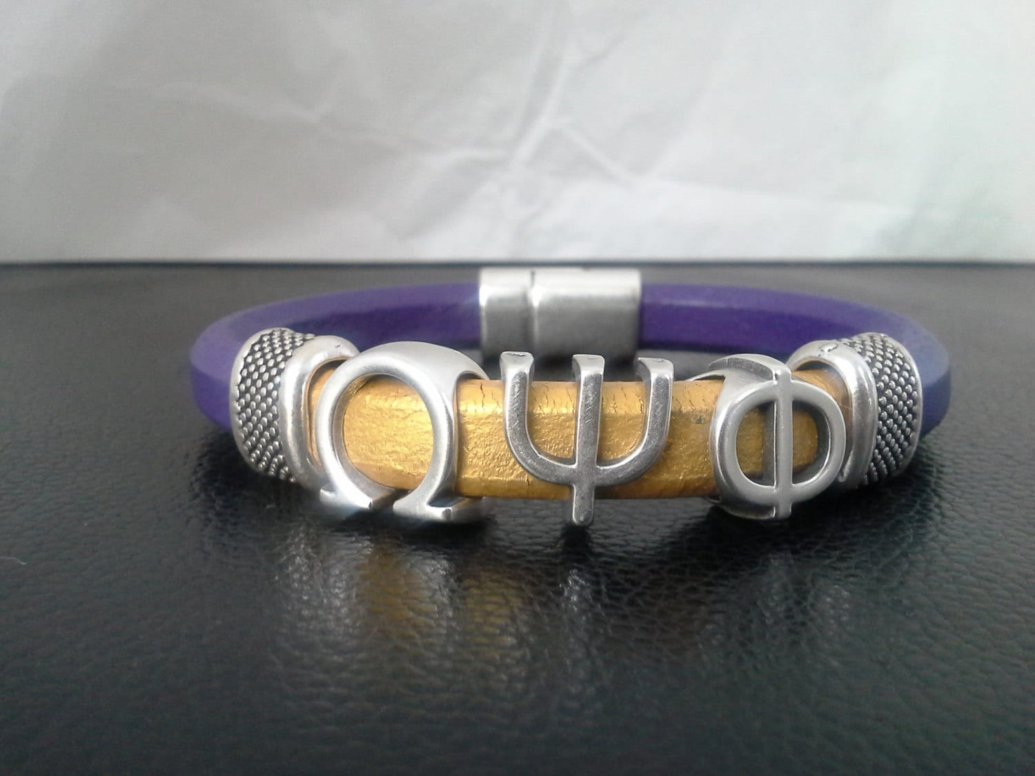 Divine 9 omega psi phi fraternity purple gold leather zoom buycottarizona Image collections