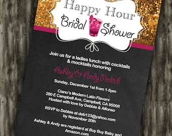 Happy Hour Bridal Shower Invite