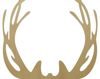 Wooden Antler Shape Style2 - Wooden Antlers, Deer Antlers, Antler Wall Decor, Woooden Antler Decor, Deer Antler Decor