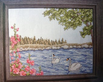 Summerscape counted cross stitch pattern from OOP Just CrossStitch Magazine
