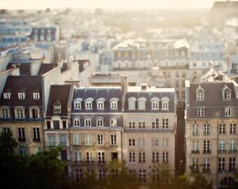 "Paris Rooftops, Paris Wall Art, Paris Print, Bedroom Decor, Travel Photography, Wanderlust Bedroom Wall Art, Fine Art Photography ""Mon Reve"""