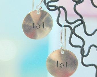 Stamped Sterling LOL Earrings