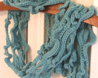 NEW Crochet Scarf Pattern - Instant Download of Curly Vines crochet pattern, permission to sell- made in Chains and SC stitch