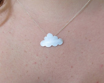 Cloud Necklace, Minimalist Jewelry, Bridesmaid Gift, Gift for Girlfriend, Friendship Necklace, Fashion Jewelry, Rain Necklace, Gift for Her