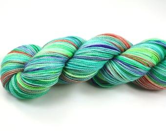 Conversation Hearts--hand dyed sock yarn, 2ply merino and nylon, (400yds/100gm)