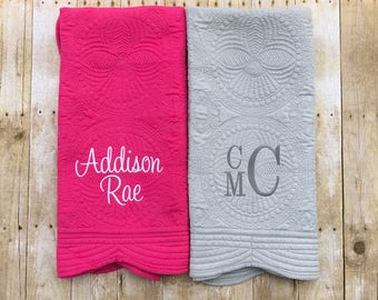 Personalized heirloom baby quilt- baby shower gift- embroidered blanket- colored baby quilt- cute baby gift- lap blanket