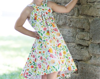 So Cute, So on Trend, So Comfortable!  Girls Twirl Dress. Sizes 3T-5. Knot and Sew Couture.