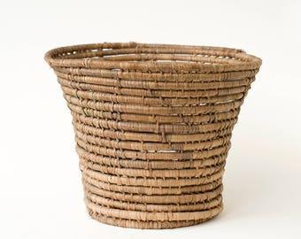 Unique Woven Basket Vintage Retro