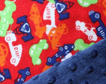 Red, Race Cars Baby Blanket