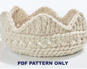 Crochet Crown Pattern - Instant Download - PDF - Pattern Download - Crochet Tiara Pattern - Crochet Tiara PDF
