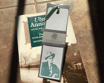 James Joyce Letterpressed Bookmark